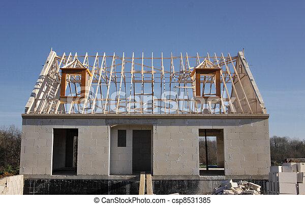 Stock de fotos casa debajo construcci n techo - Imagenes de estructuras de casas ...