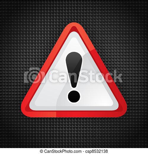 Hazard warning attention symbol - csp8532138