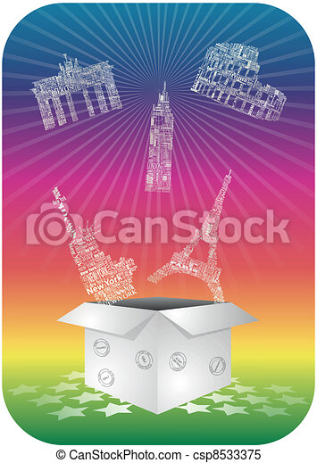Landmarks box - csp8533375