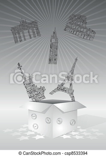 Landmarks box - csp8533394
