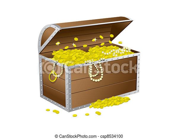 Treasure chest - csp8534100