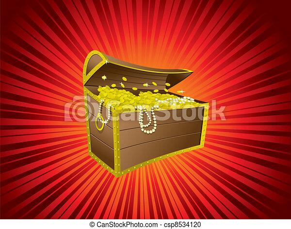 Treasure chest - csp8534120