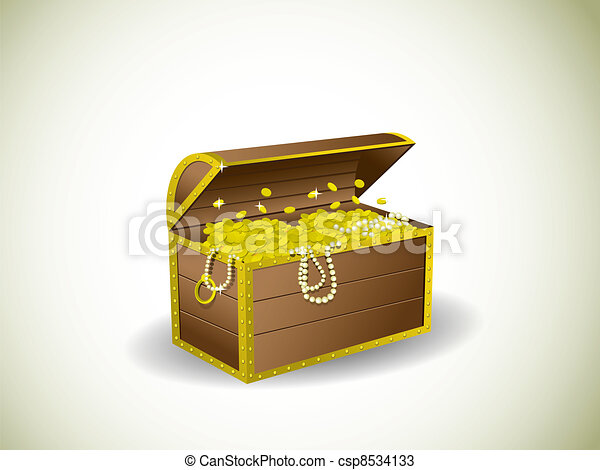 Treasure chest - csp8534133