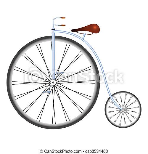 自転車の 古い自転車 : Old Bicycle Clip Art