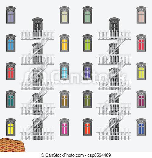 emergency exit ladder - csp8534489