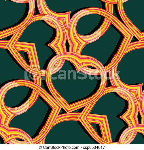 hearts seamless pattern - csp8534617