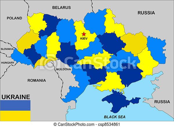Ucrania, mapa - csp8534861