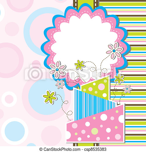 Template greeting card, vector - csp8535383
