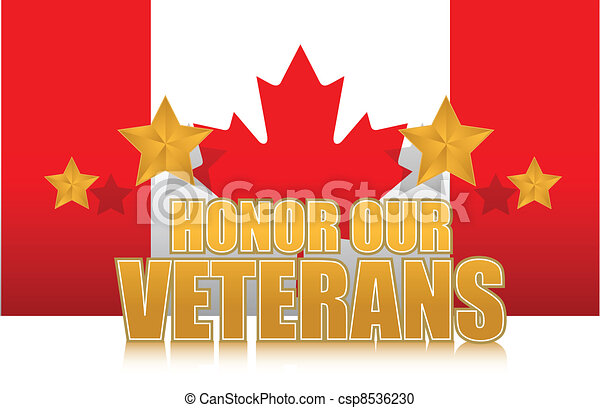 canada honor our veterans gold - csp8536230