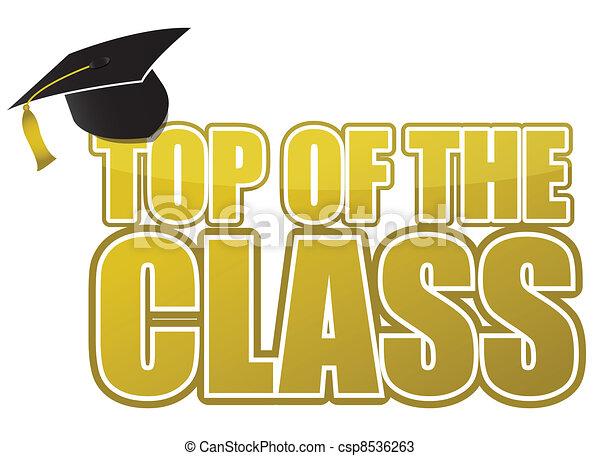 top of the class graduation - csp8536263