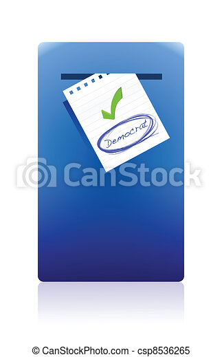 mail box and democrat vote - csp8536265