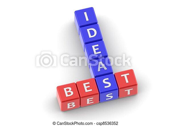 Buzzwords: best ideas - csp8536352