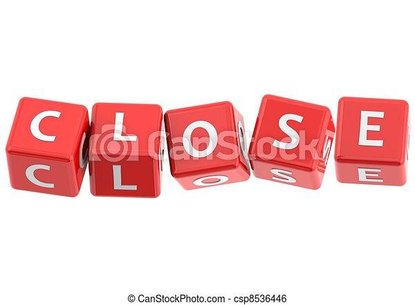 Buzzwords: Close - csp8536446