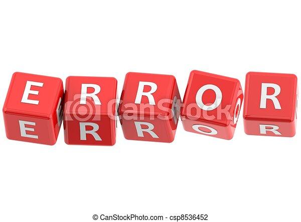 Buzzwords: error - csp8536452