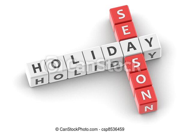 Buzzwords: holiday season - csp8536459