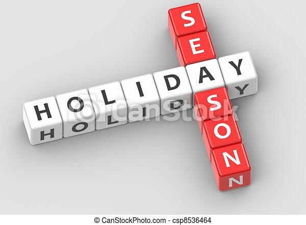 Buzzwords: holiday season - csp8536464