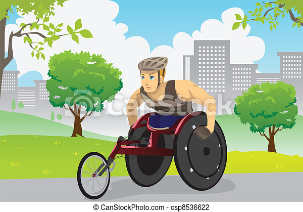 Wheelchair athlete - csp8536622
