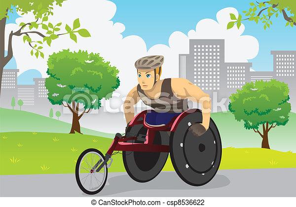 Wheelchair athlete - csp8536622