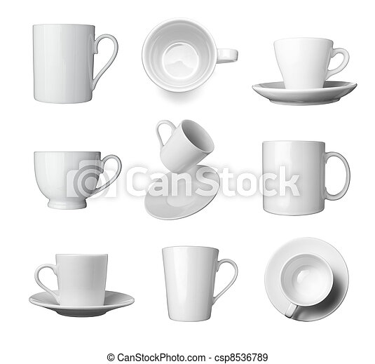 white coffee cup beverage drink food - csp8536789
