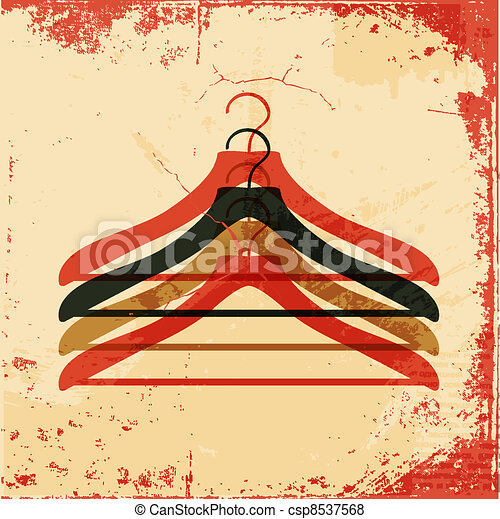clothes hanger retro poster - csp8537568