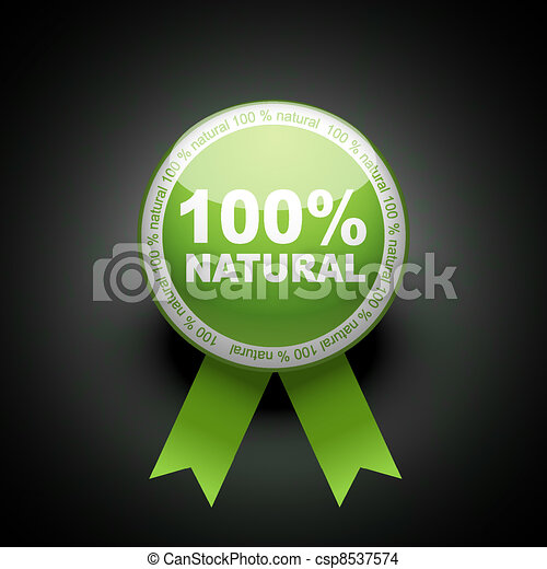 Ecology web push button icon. 100 percent - csp8537574