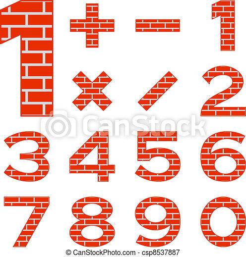 Numbers set brick - csp8537887