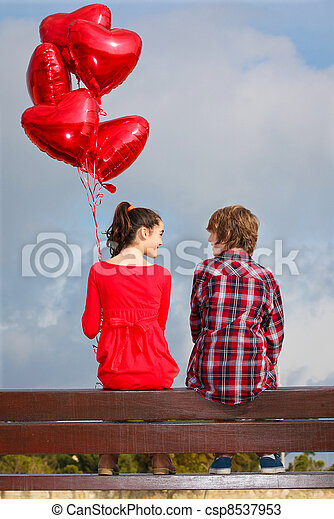 par,  valentines, Dia - csp8537953
