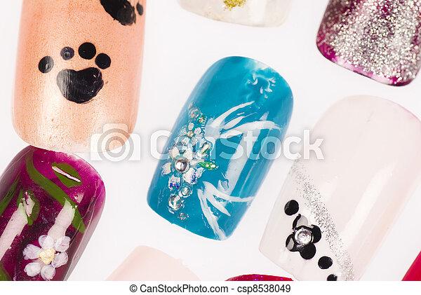 stock fotografien von bunte n gel bunte poliert dekoriert finger n gel csp8538049. Black Bedroom Furniture Sets. Home Design Ideas