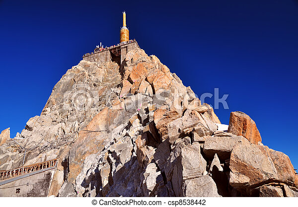 Aiguille du Midi needle tower - csp8538442