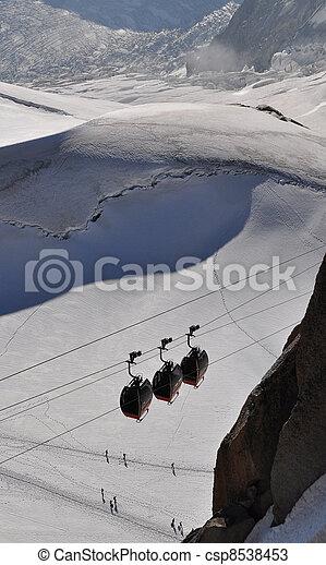 Aiguille du Midi cable car - csp8538453
