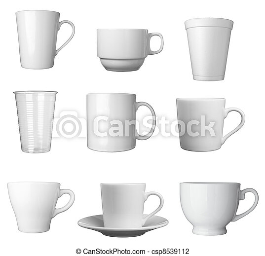 white coffee cup beverage drink food - csp8539112