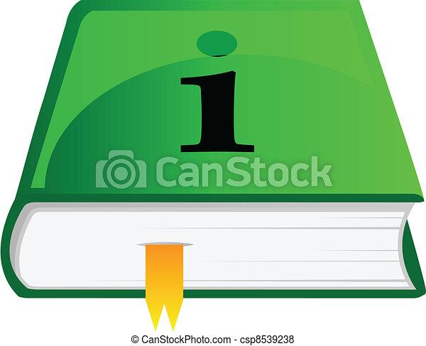 Vector icon of information book - csp8539238
