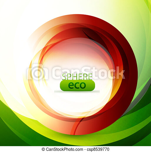 Eco-friendly abstract swirl - csp8539770
