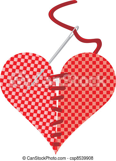 we couldn`t part - stitch heart - csp8539908