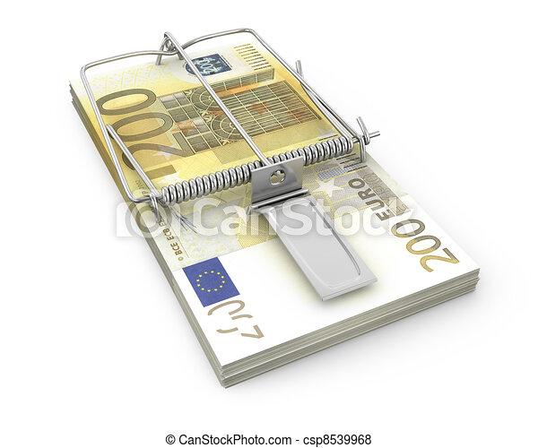 stock illustration von maus falle gemacht satz euro