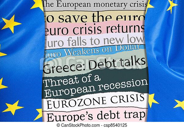 Financial Crisis in Europe - csp8540125