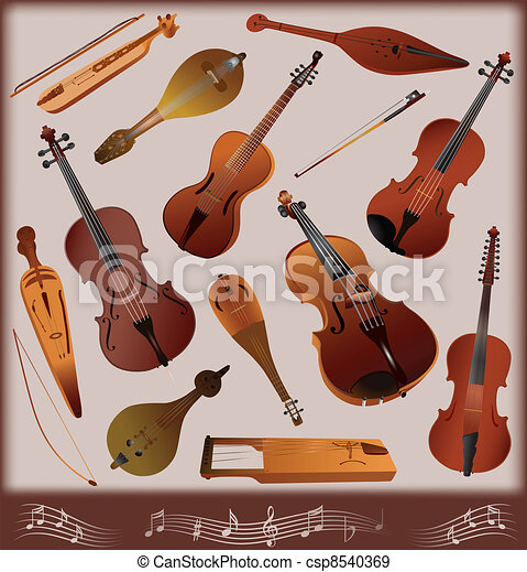Collection of musical instruments s - csp8540369