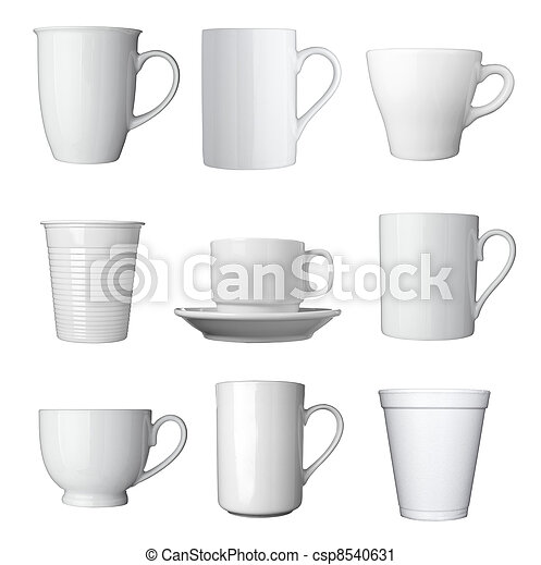 white coffee cup beverage drink food - csp8540631