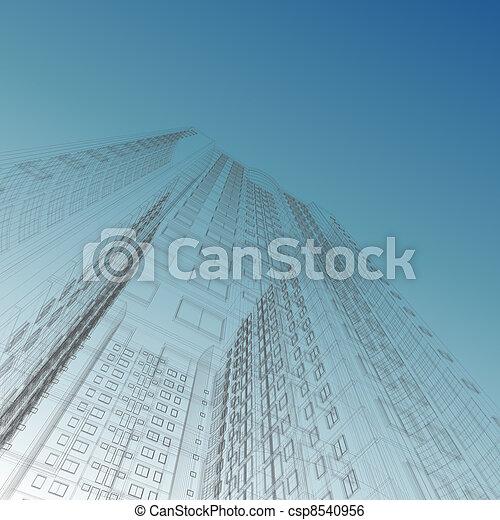 Skyscraper blueprint - csp8540956