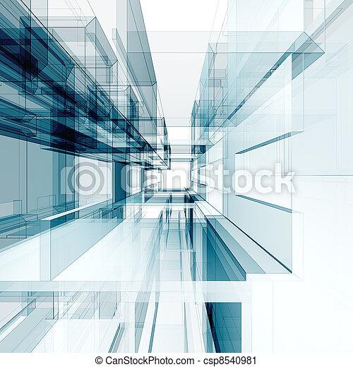 abstrakt, arkitektur, bakgrund - csp8540981