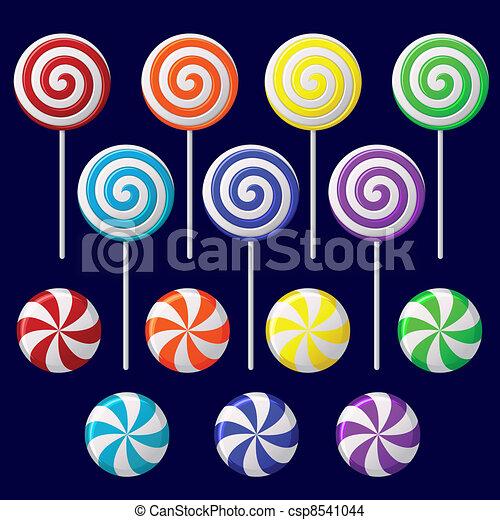 Delicious colorful lollipop collection - csp8541044