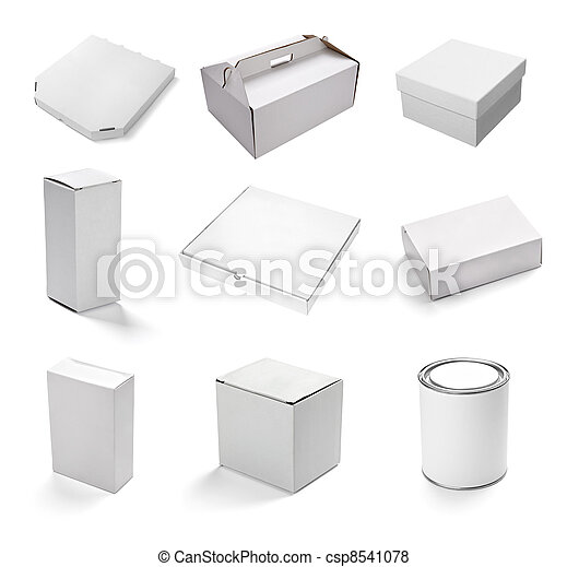 blank white box container - csp8541078