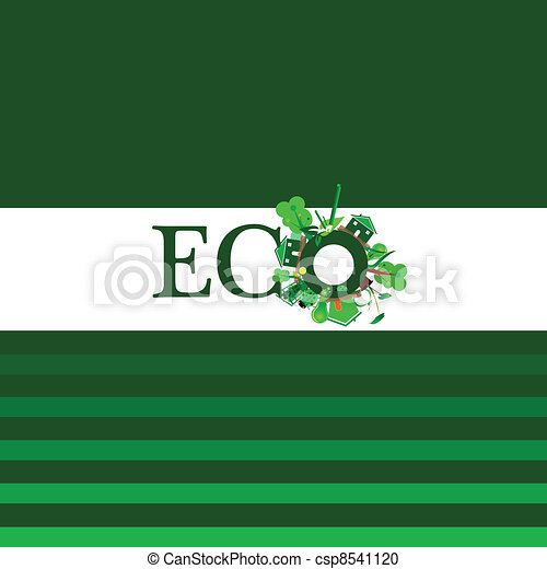 eco word for background illustration - csp8541120