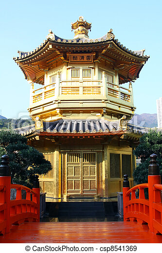 The Pavilion of Absolute Perfection in the Nan Lian Garden - csp8541369
