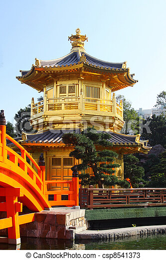 The Pavilion of Absolute Perfection in the Nan Lian Garden - csp8541373