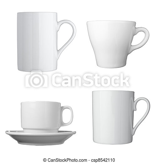 white coffee cup beverage drink food - csp8542110