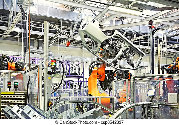 robots in a car factory - csp8542337