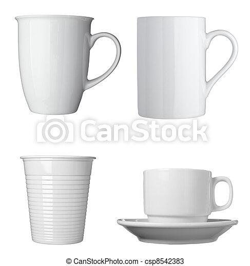 white coffee cup beverage drink food - csp8542383