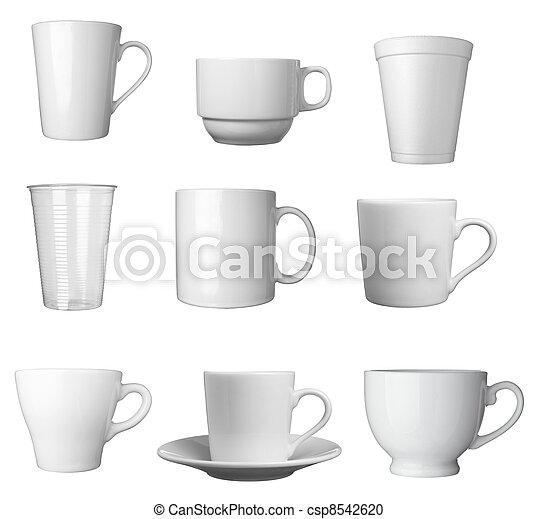 white coffee cup beverage drink food - csp8542620