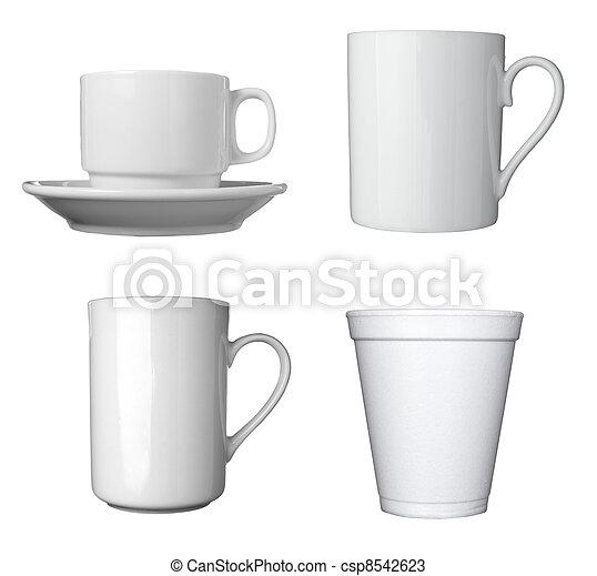 white coffee cup beverage drink food - csp8542623